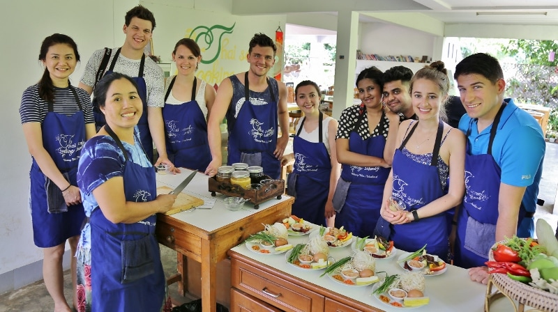 Thai Secret Cooking School & Organic Garden. Class Picture May-2017 Chiang Mai, Thailand.
