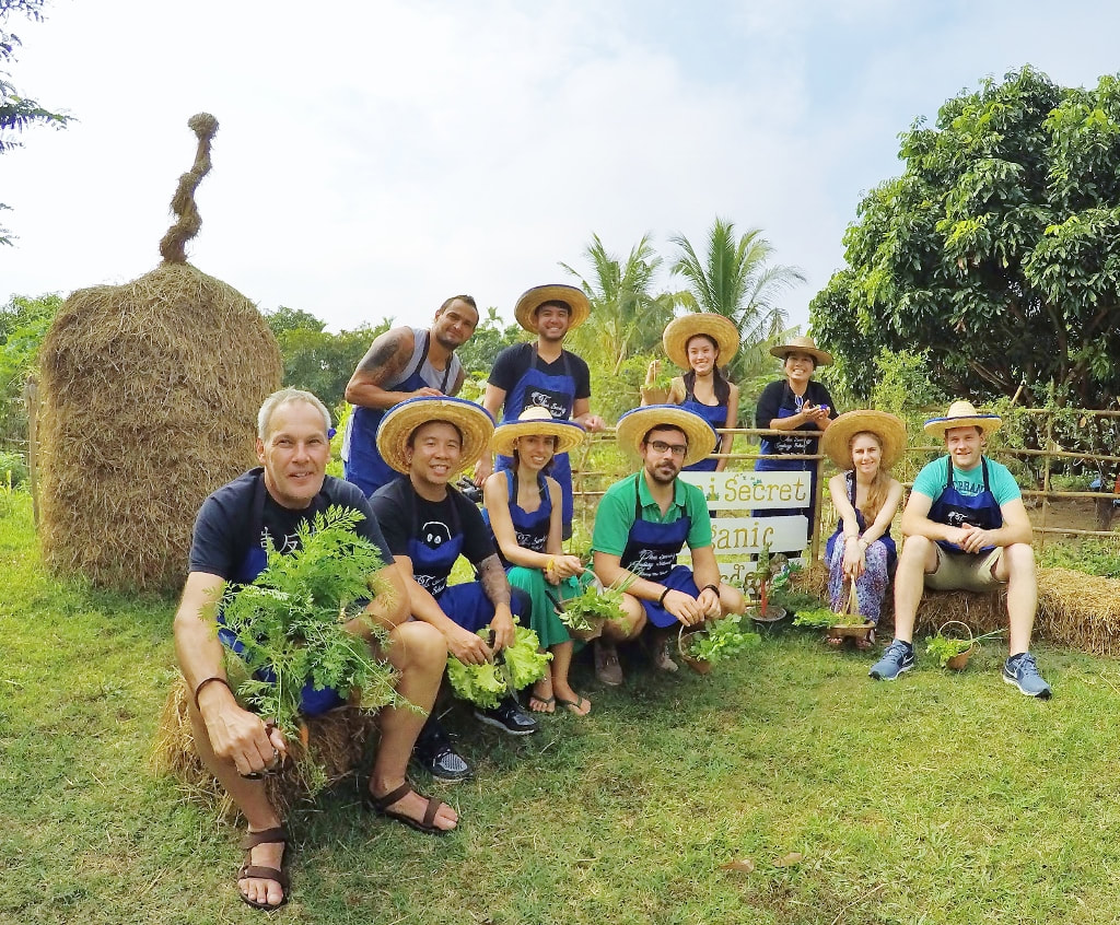 Thai Secret Garden and Cooking Class. Chiang Mai, Thailand. January 7-2018