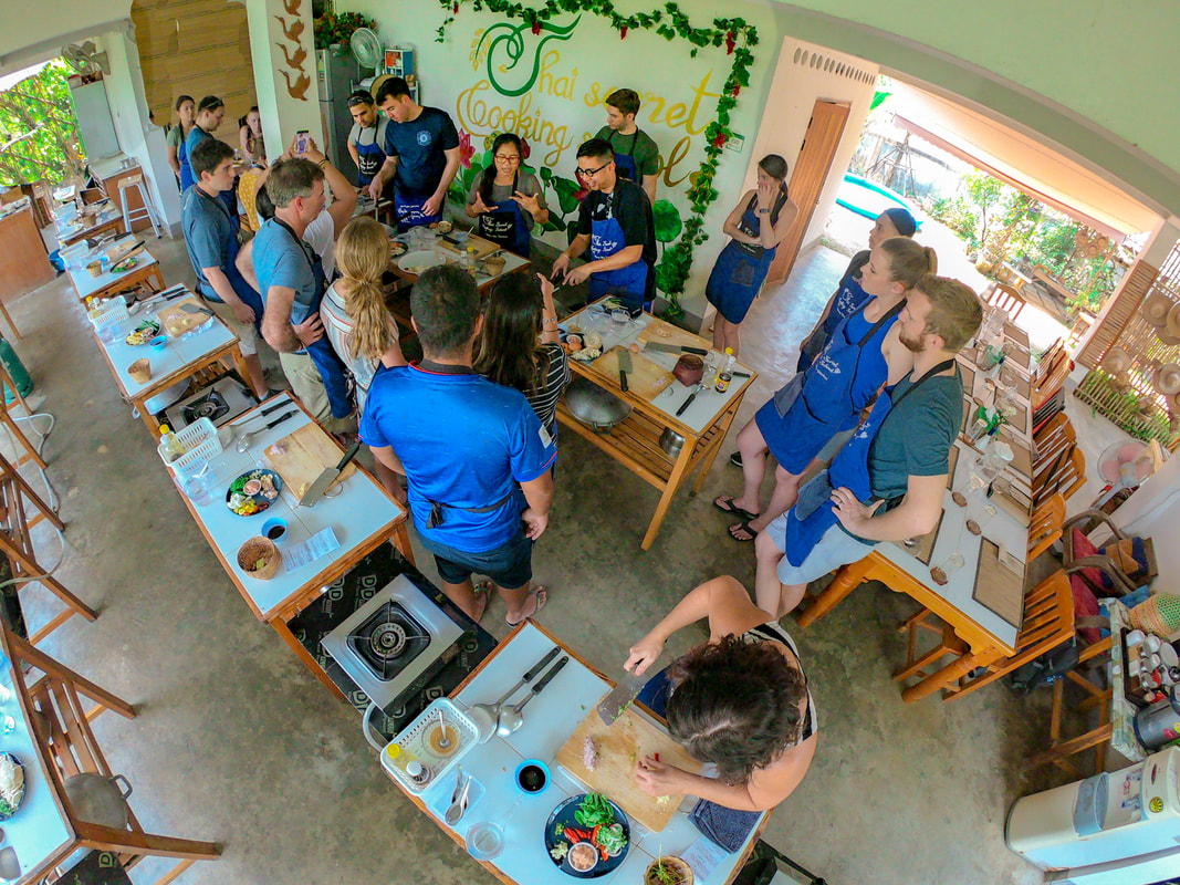 Thai Secret Cooking Class. April 2-2019 Chiang Mai, Thailand.