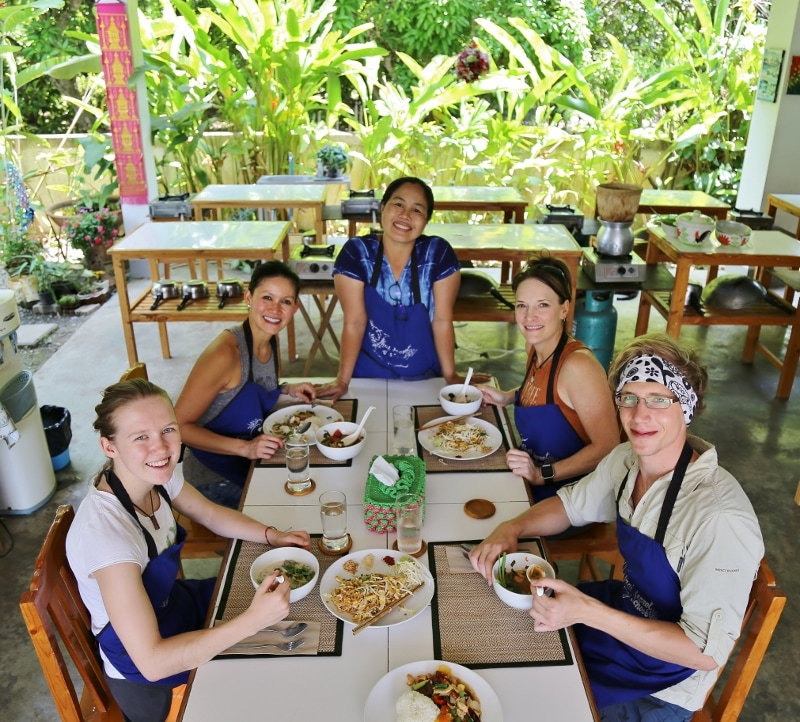 Thai Secret Cooking School & Organic Garden. Class Photo April 20-2017 Chiang Mai, Thailand.