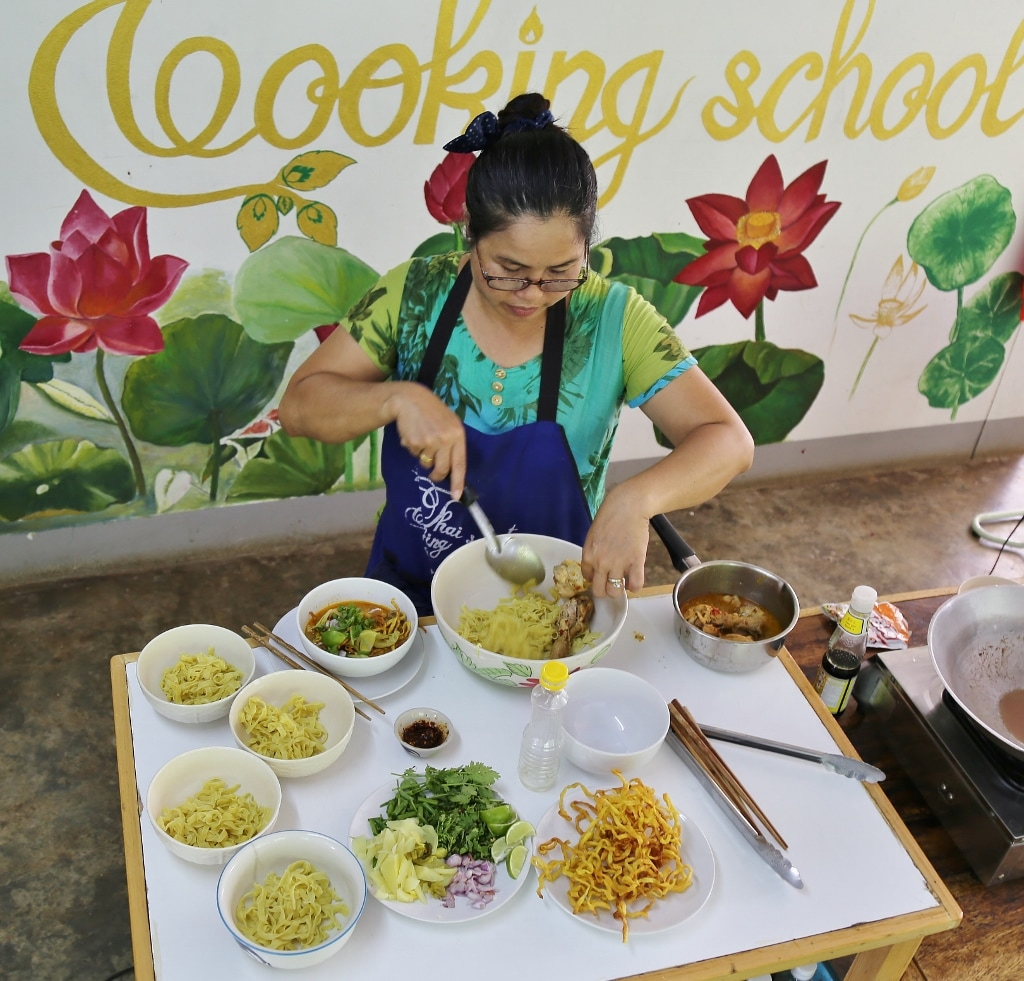 Khao Soi Lunch for Everybody! May 4-2017 www.Chiang-Mai-Cooking-School.com